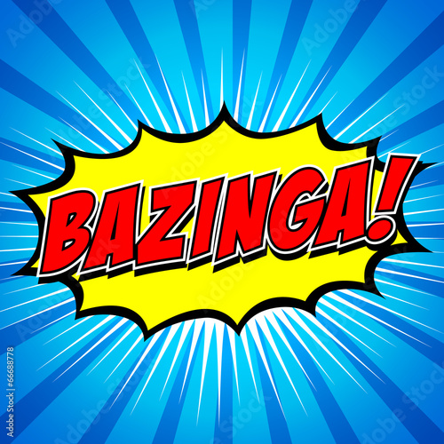 Bazinga! Comic Speech Bubble, Cartoon Canvas Print