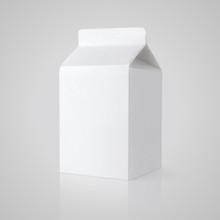 White Blank Milk Carton Packag...