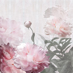 Naklejka floral design peonies