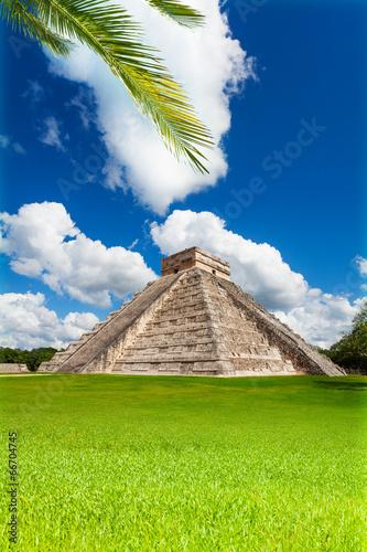 fototapeta na szkło Ładny widok pomnika Chichen, Itza, Meksyk