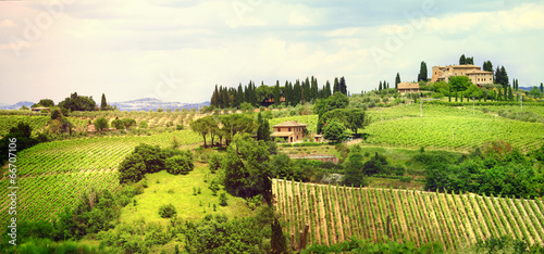 Deurstickers Toscane ladscapes of Tuscany, bella Italia series