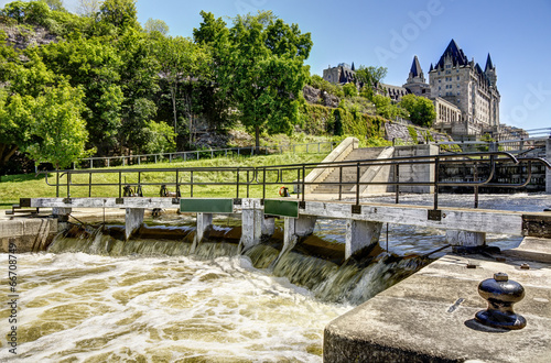 The rideau canal in Ottawa