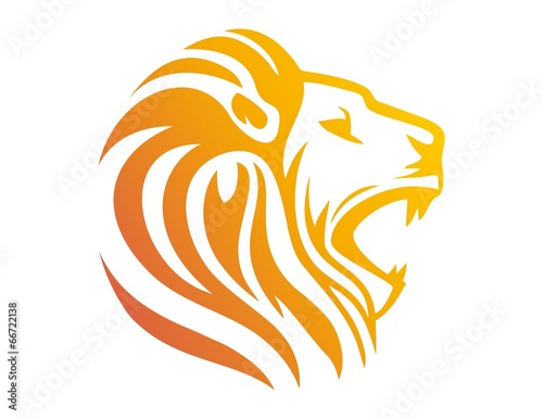 Photo lion logo,lion head symbol,silhouette carnivore icon