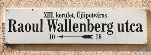 raoul wallenberg street sign Wallpaper Mural