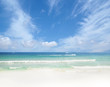 Scenic landscape of a tropical beach. Summer background.