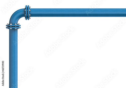 Metal pipe isolated on a white background Tableau sur Toile