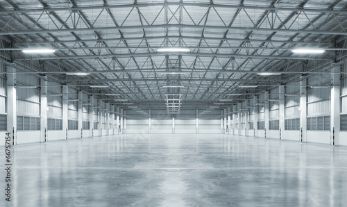 Concrete floor inside industrial building Fototapet