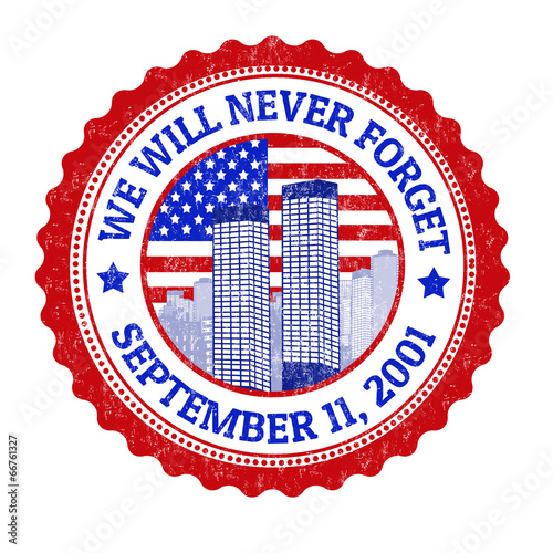 Fotografia  We will never forget stamp