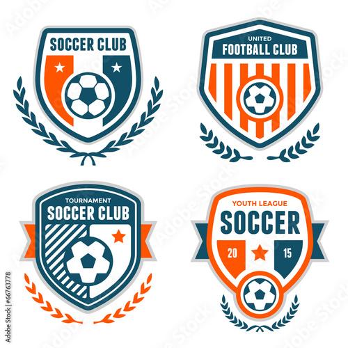 Fotografia, Obraz  Soccer crests