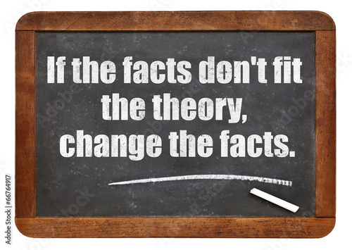 if the facts do not fit the theory Canvas Print