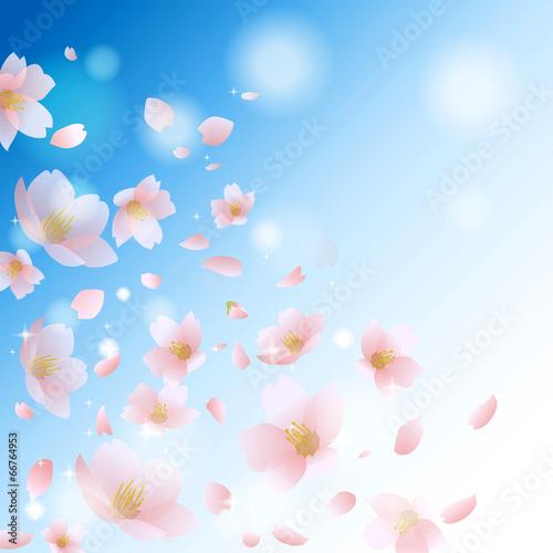 Tuinposter Vlinders 桜 春