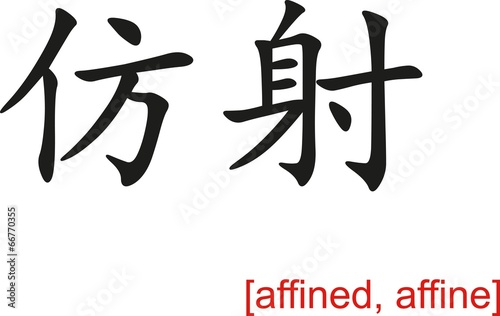 Chinese Sign for affined, affine Canvas Print