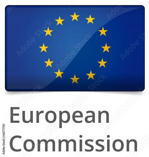 Foto  European Commission standard proportional sign - glossy design