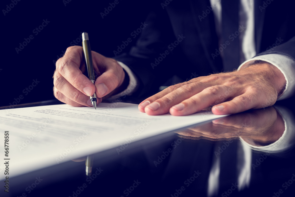 Fototapeta Signing legal document