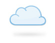 Leinwandbild Motiv Cloud Icon