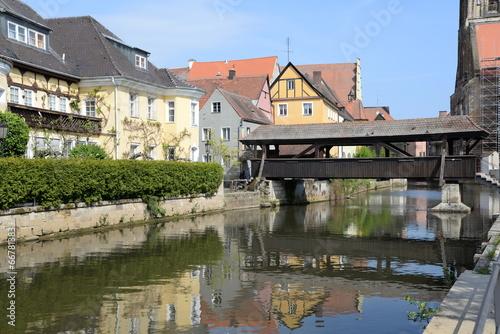 Schiffbrücke in Amberg Wallpaper Mural