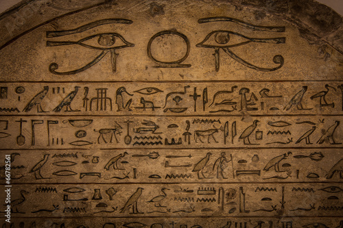 Deurstickers Egypte Hieroglyph
