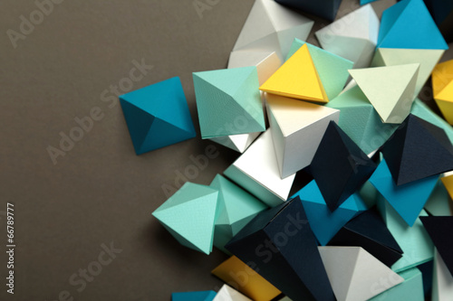 Geometric origami background Poster