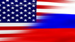 Waving USA and Russia Flag, ready for seamless loop.