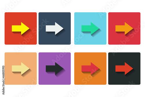 Fototapeta Flat arrows icons obraz na płótnie