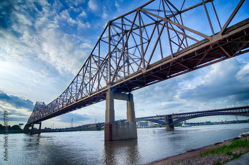 Fotografering  early morning Cityscape of St. Louis skyline in Missouri state