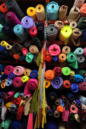 Tuinposter Stof Fabric textile rolls