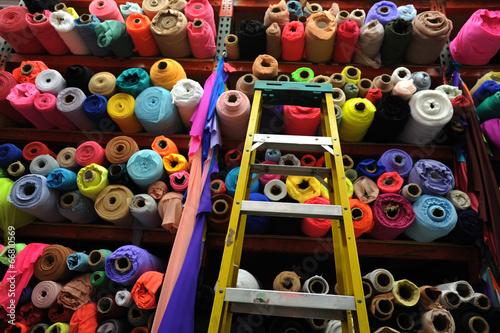 Fotobehang Stof Fabric textile rolls