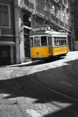 Famous Tram number 28 in Lisbon