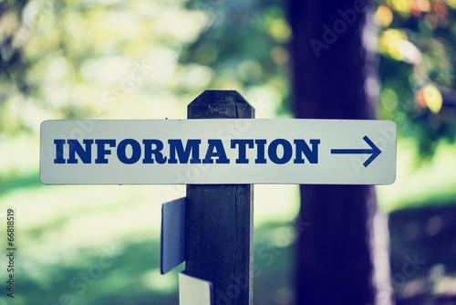 Fotografie, Obraz  Information signboard