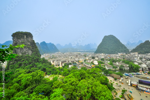 Foto op Canvas Guilin Yangshuo City guangxi province near guilin
