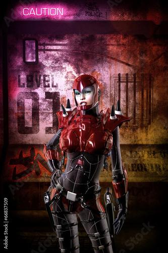 futurystyczny-cyberpunk-dziewczyna-zolnierz
