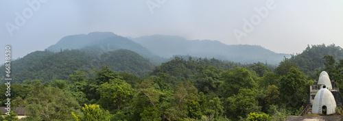 Photo Panorama of Beatles ashram in Rishikesh from roof
