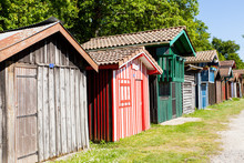 Typique Colored Wooden Houses ...