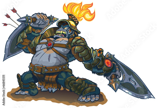 Photo  Gorilla Warrior Fantasy Vector Illustration