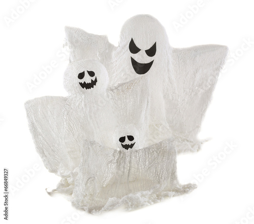 Photo Ghost family isolated on white