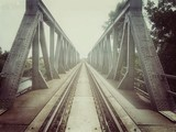 Retro train bridge - 66854782