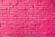 canvas print picture - Magenta Rough Brick Wall Background/ Texture