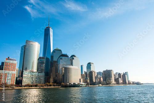 Panorama of downtown Manhattan