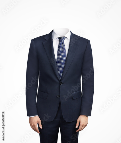 Photo man in suit without head