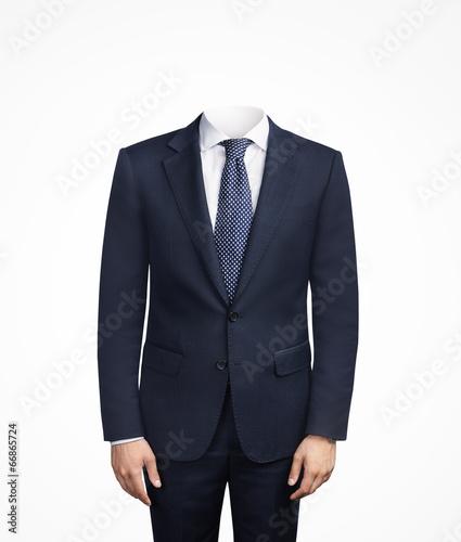 Fototapeta man in suit without head