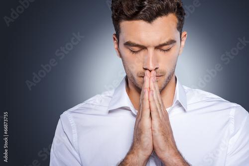 Fotografie, Obraz  Man praying.
