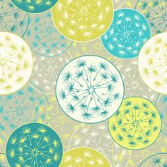 Fototapeta Seamless pattern with decorative dandelion