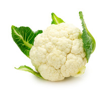 Fresh Cauliflower Isolated On ...