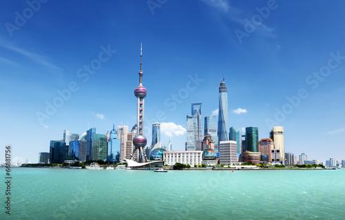 Foto op Aluminium Shanghai Shanghai skyline and sunny day