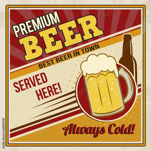 Premium beer retro poster