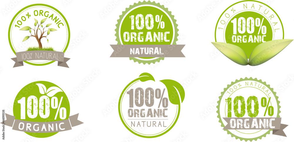 Fototapety, obrazy: Ecology, green, bio, Organic, icons