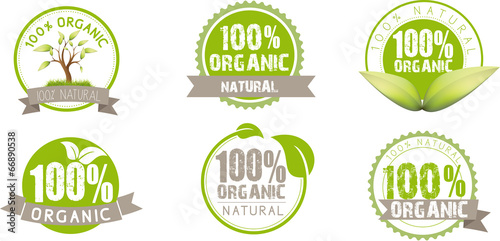 Fotografie, Obraz  Ecology, green, bio, Organic, icons