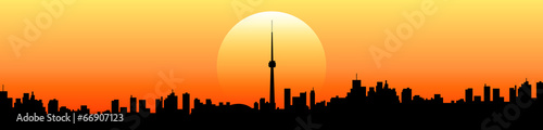 Fototapety, obrazy: tramonto skyline