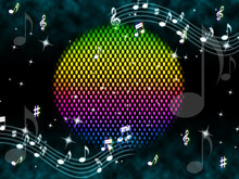 Music Ball Background Means Ra...