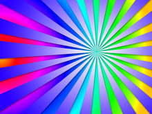 Colourful Dizzy Striped Tunnel...